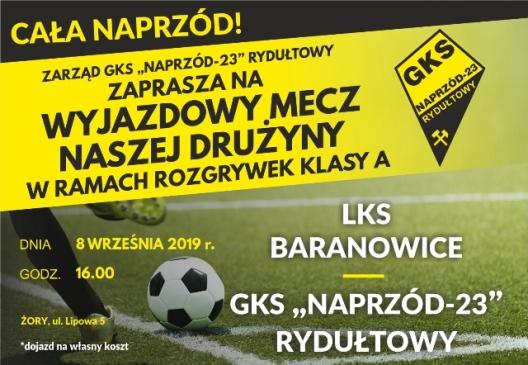 Zapraszamy na mecz naszej drużyny GKS-23 NAPRZÓD Rydułtowy