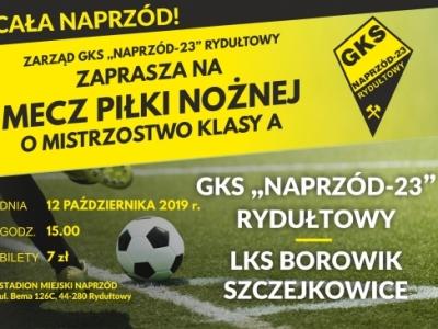Zapraszamy na mecz GKS-23 NAPRZÓD Rydułtowy